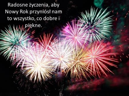 Niech Nowy Rok wszystkim wam szczodrze darzy....