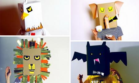 Zabawy pudełkami kartonowymi