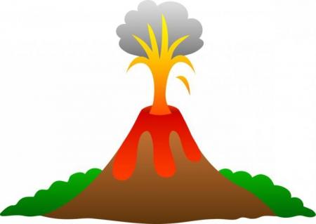 Przedszkolny wulkan