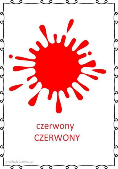 KOLOROWY ŚWIAT- CZERWONY